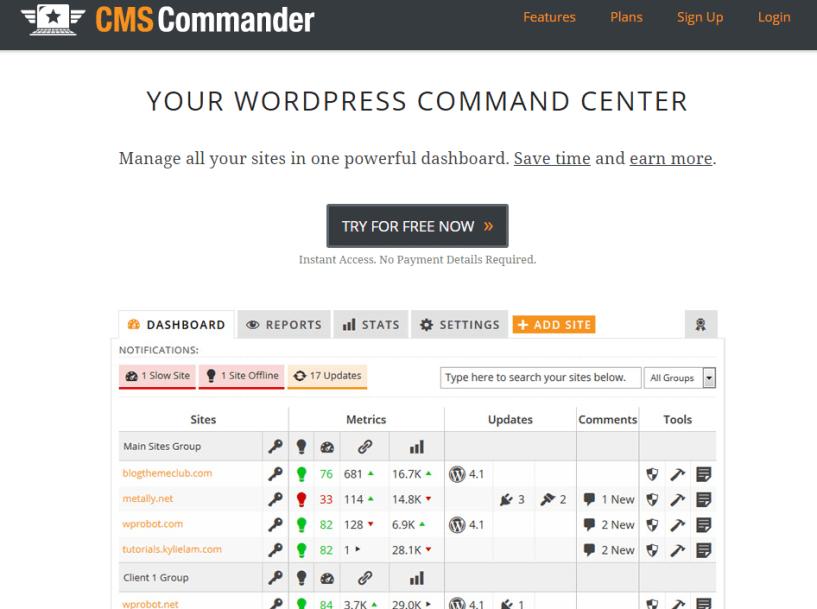 CMS Commander Manage Multiple WordPress Sites Faster