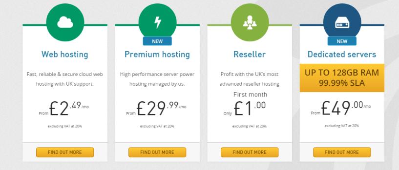 Heart Internet web hosting plans