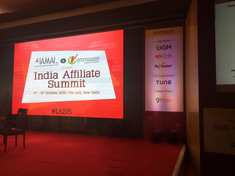 India Affiliate Summit 2015 Delhi success