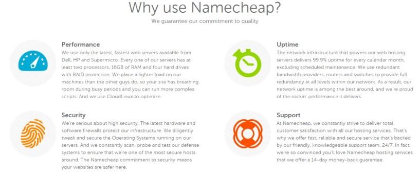 Namecheap review features
