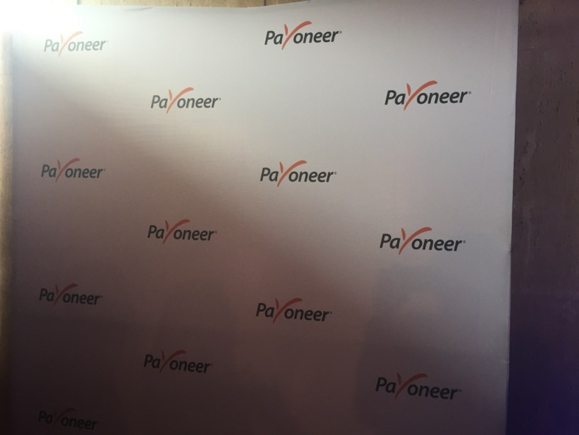 Payoneer Team gold sponsor India Affiliate Summit 2015 Delhi