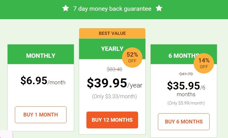 Private Internet Access price