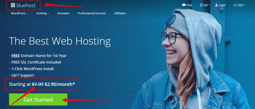 Best Web Hosting - Domains - WordPress - Bluehost