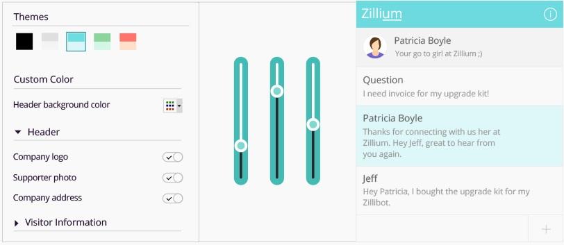 SalesIQ review customize widgets
