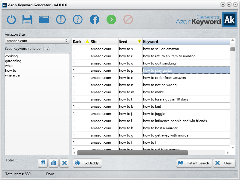 Azon keyword-generator-screenshot