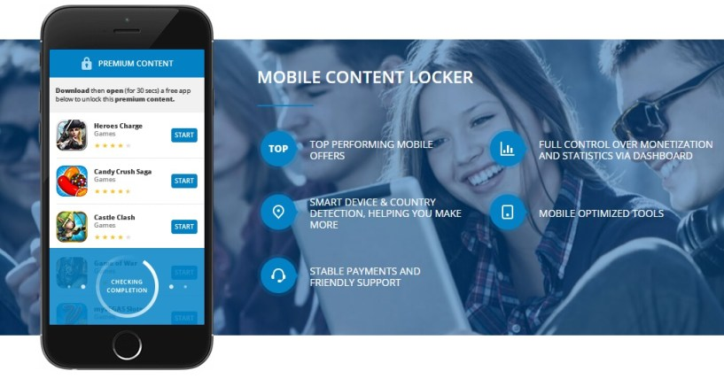 mgcash mobile content locker