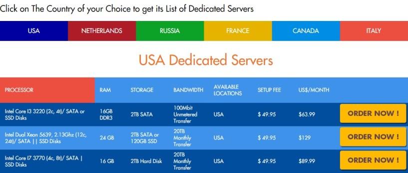 dedicated server price temok