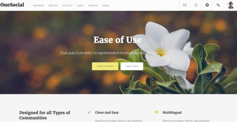 OneSocial A Refreshing BuddyPress theme for all types of BuddyPress sites (9)