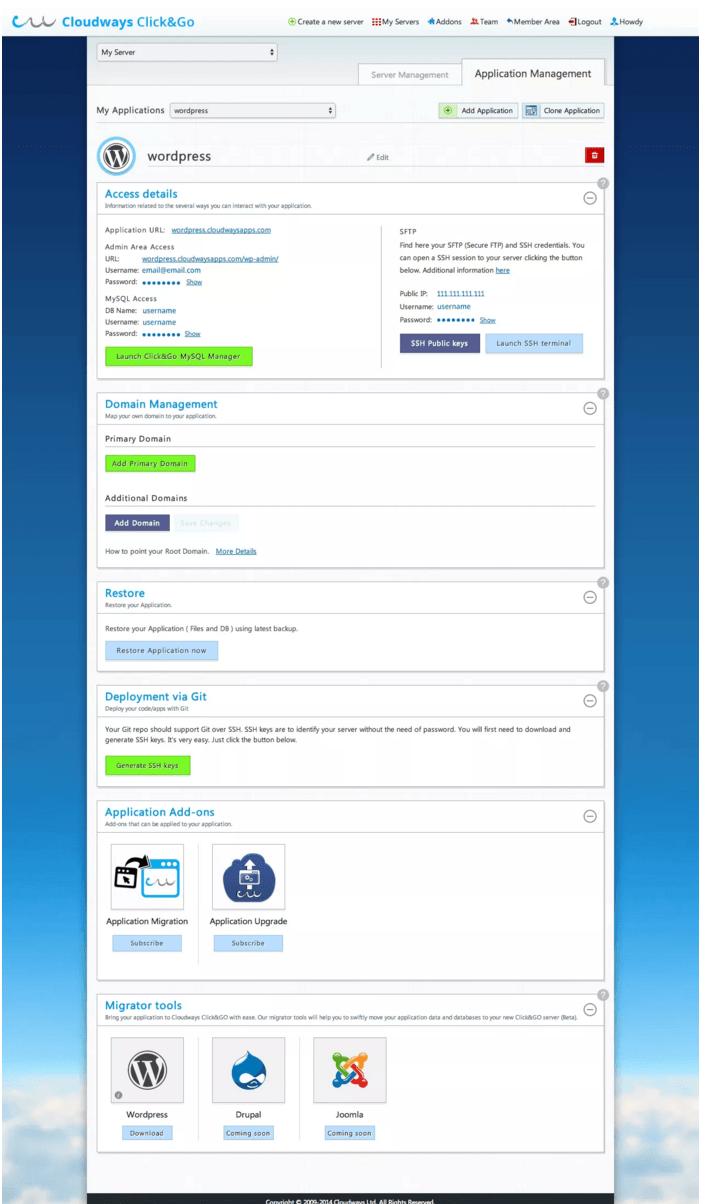 Cloudways WordPress Hosting Application Management