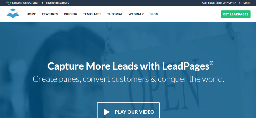LeadPages Software mobile responsive landing page generator