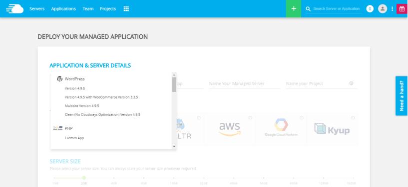 cloudways- install app