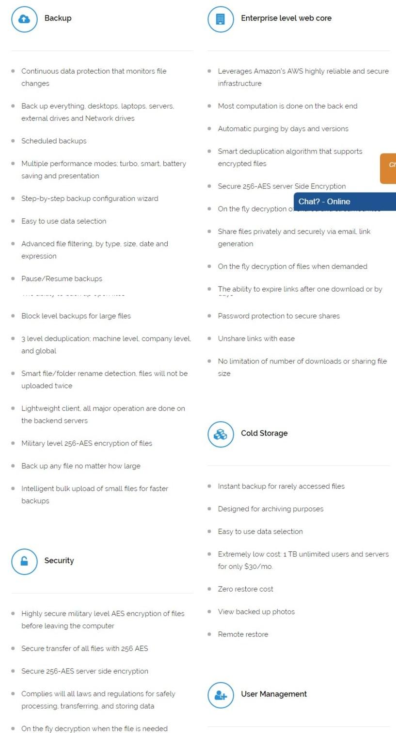 Zoolz Windows Server Backup AES 256 Encryption Data Storage Solutions