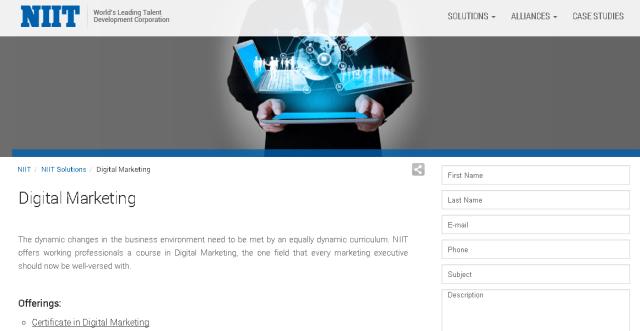 NIIT Digital Marketing