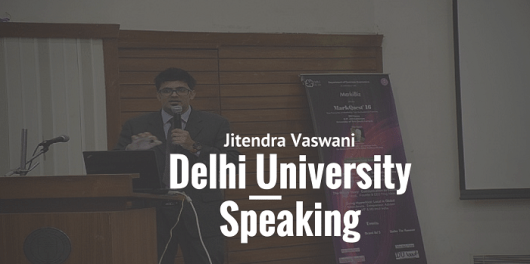 jitendra vaswani speaking at delhi university