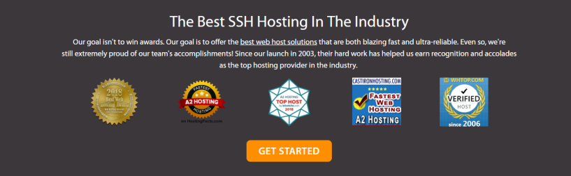 A2 hosting ssh hosting awards