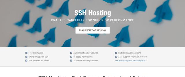 Siteground SSH hosting