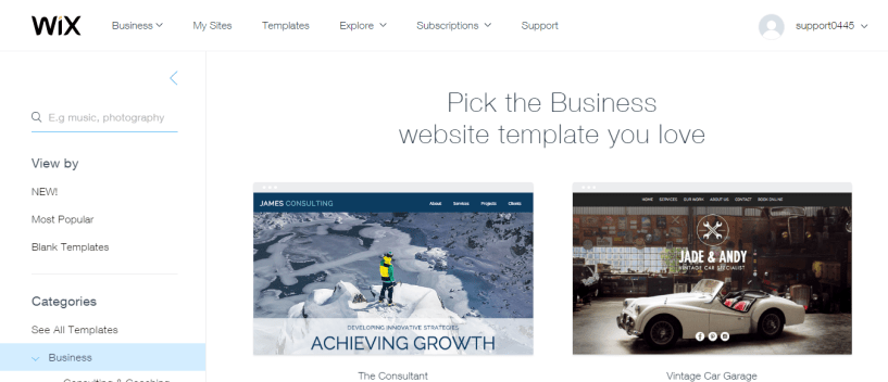 Wix Business Website Templates 5