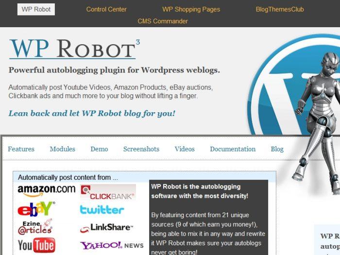 Wp robot review plugin