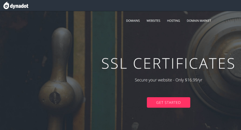 Dynadot SSL Certificates Alpha SSL Rapid SSL Domain Registrars