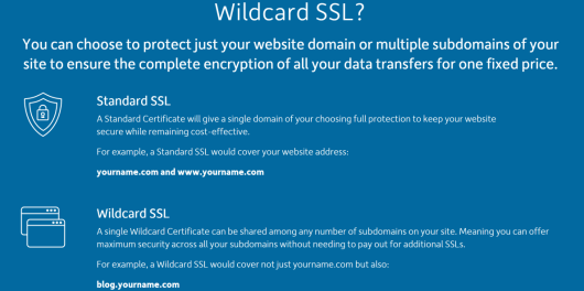 SSL certificates Let your customers know their data is safe