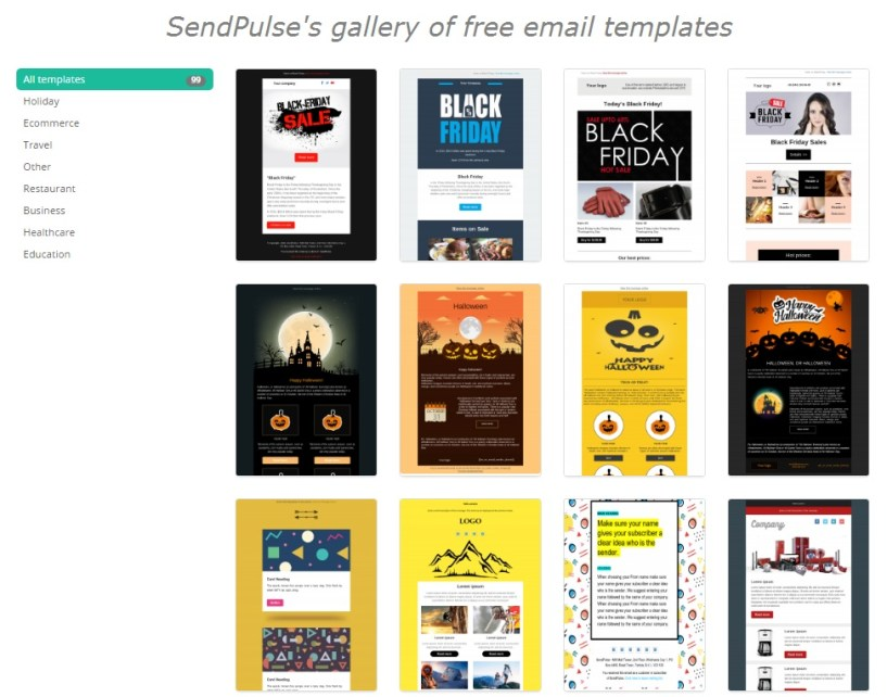 sendpulses-gallery-of-free-email-templates