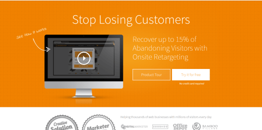 OptiMonk Onsite Retargeting Exit Intent