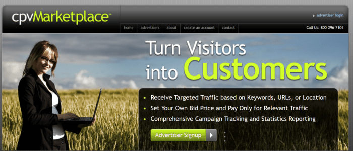 cpvMarketplace CPV Advertising Cost Per View Ad Campaigns by