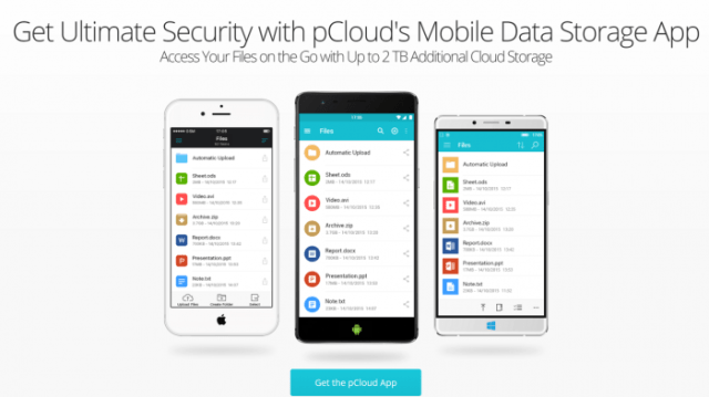 pCloud Review - Mobile Encryption App Mobile Data Storage