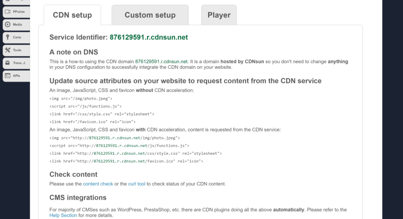 CDnsun review features Dashboard