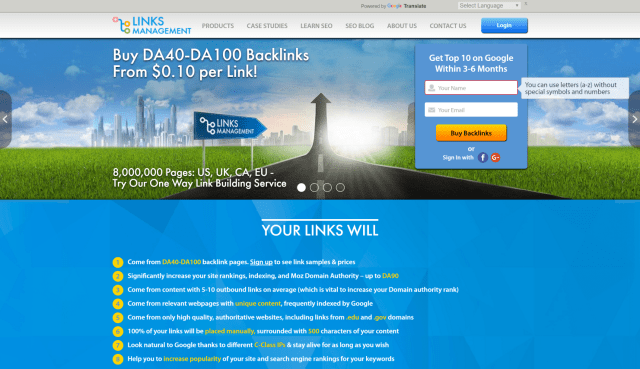 Linksmanagement review features pricing seo