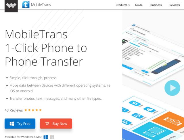 MobileTrans WonderShare