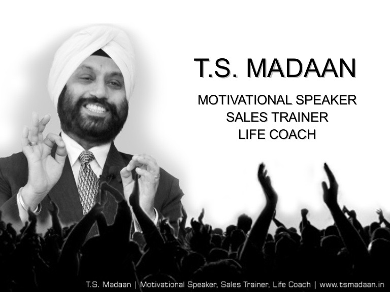Ts Madaan speaker in India