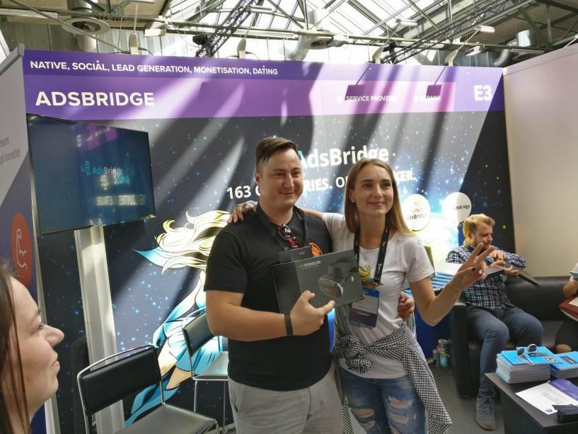 Elen With Winner Of Adsbridge Contest