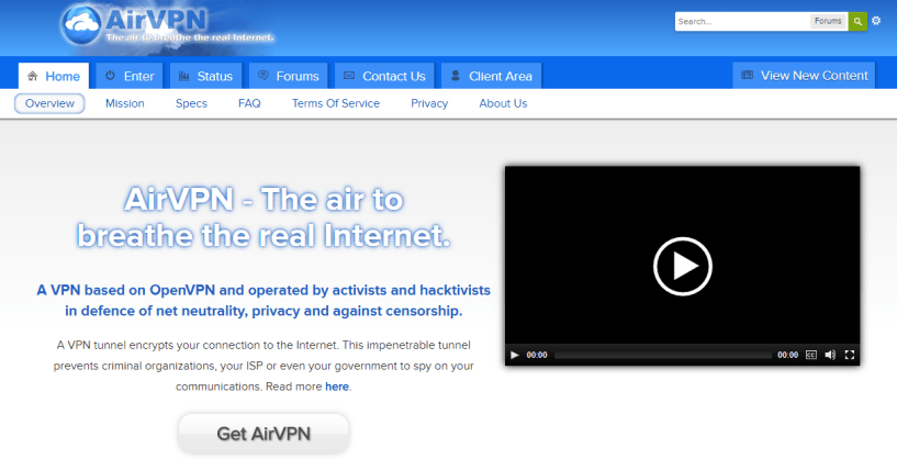 AirVPN - top vpn services for china