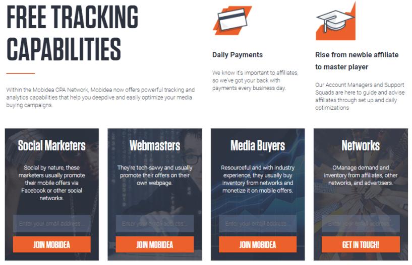 Mobidea - Best Thrive Affiliate Tracker Alternatives