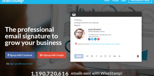 Professional Email Signature Template Generator - WiseStamp Review
