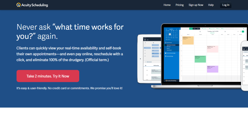 Acuity - booking appointment software