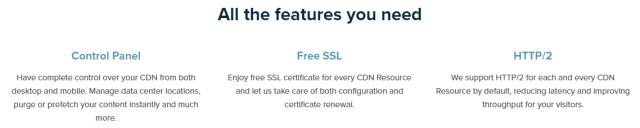 CDN77 review - features