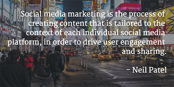 Neil-Patel-Quote - social media marketing