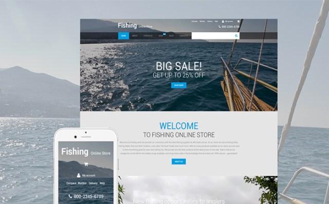 Fishing Online Store WooCommerce Theme
