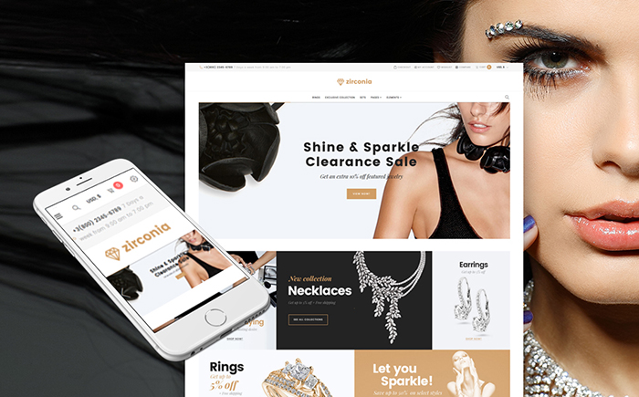Zirconia - Jewelry & Accessories Store Responsive WooCommerce Theme