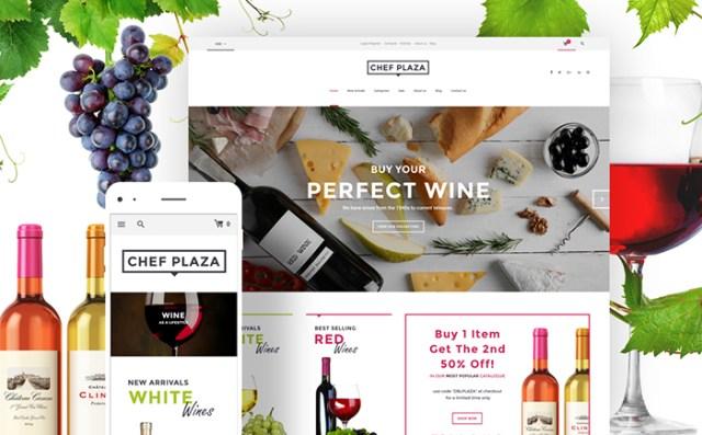 Chef Plaza Food And Wine Store WooCommerce Theme