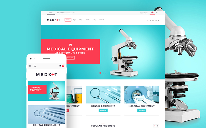 MedKit - Medical Equipment WooCommerce Theme