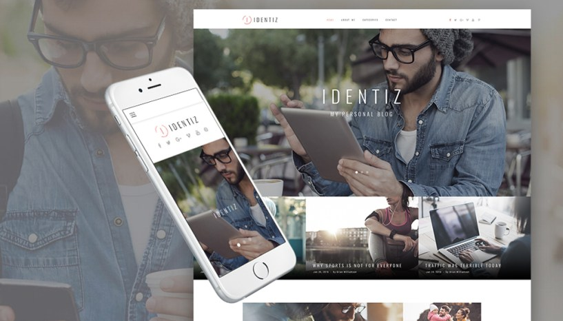 Stand out from the Crowd with Identiz ‒ Personal Blog WordPress Theme