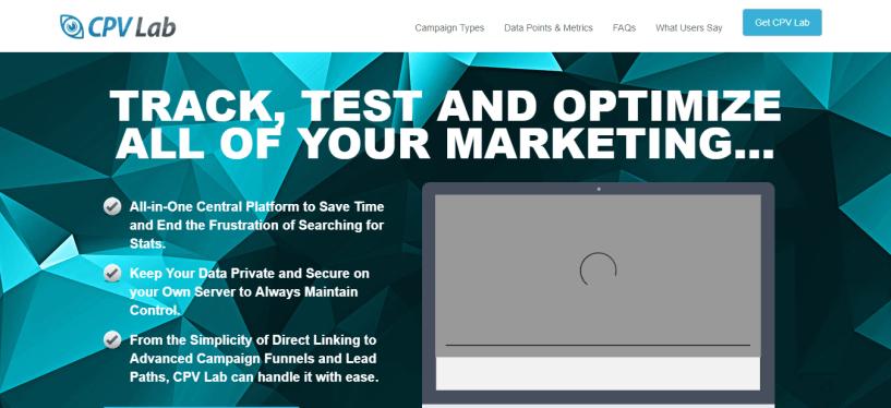 Affiliate marketing tracker CPV lab
