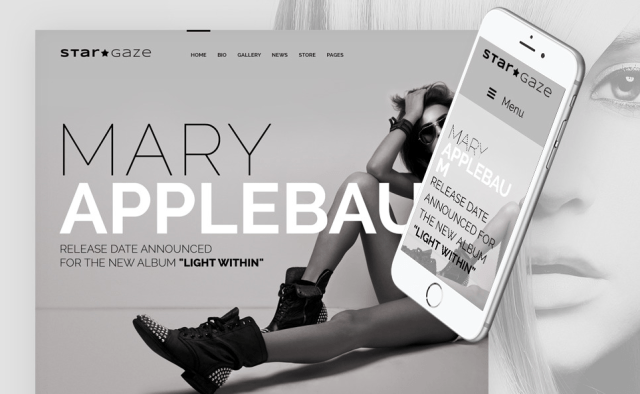 Stargaze - Media & Celebrity Responsive WordPress Theme