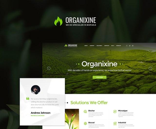 Organixine - Biofuel Company WordPress Theme