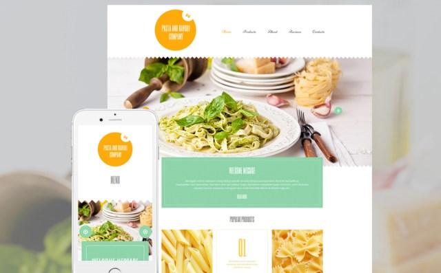 Pasta and Ravioli Company WordPress Template