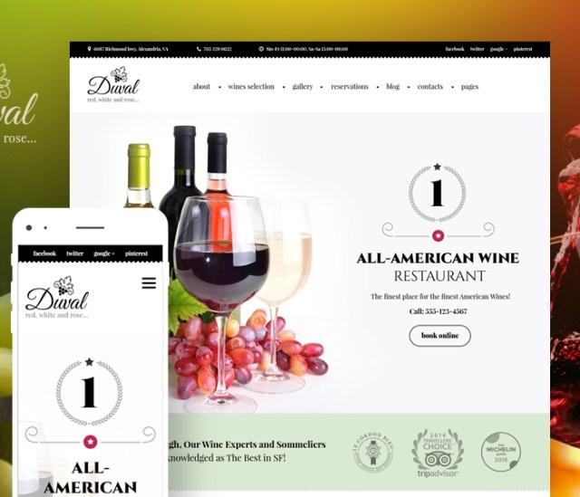 Wine Restaurant WordPress Theme