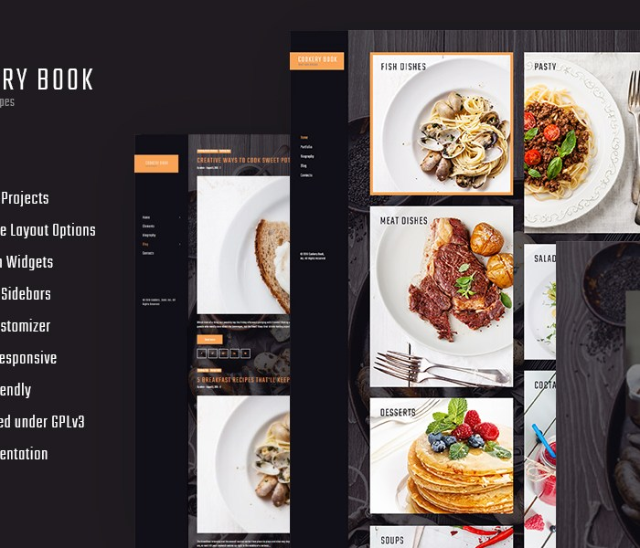Recipes and Cooking WordPress Theme